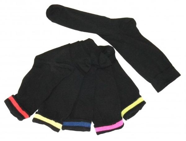 Sorte sokker med indvendig markering