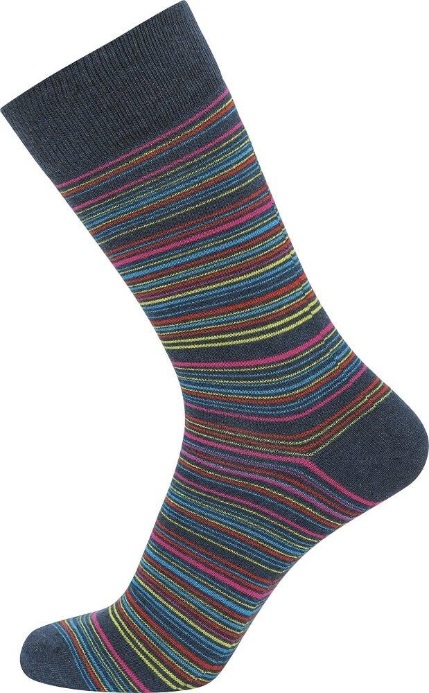 jbs – Blå jbs strømper med flerfarvede striber - str. 40-47 fra shopwithsocks