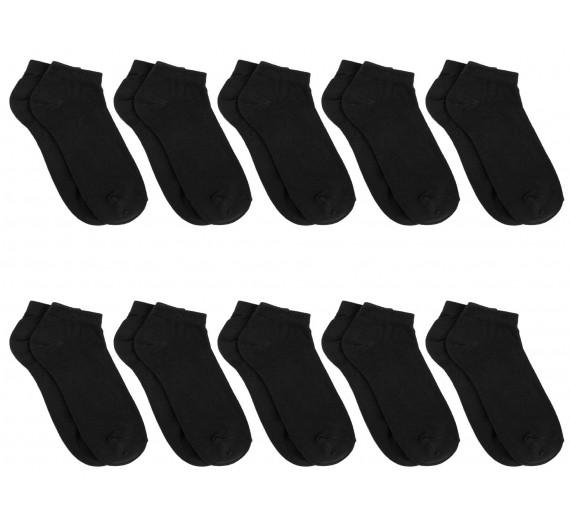 10 Par Sorte Bambus Ankelsokker (Korte Sokker) - Socks CPH