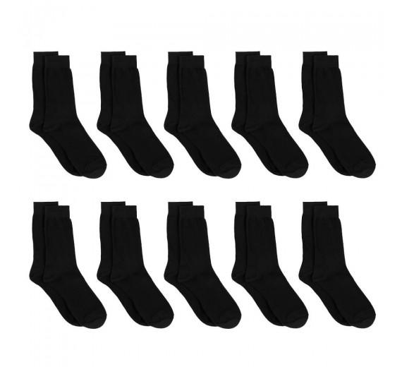 10 Par Sorte Sokker Bomuld - Socks CPH