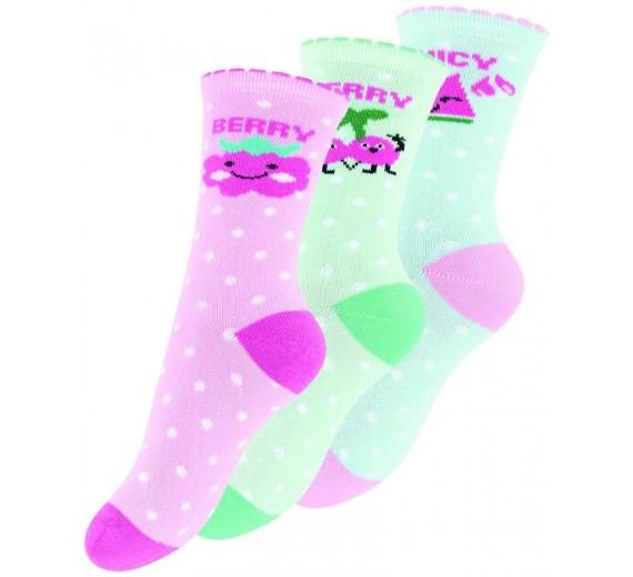 """3 par sokker til børn """"Fruity"""""""