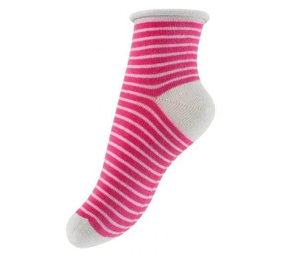 Sokker til piger, med lyserøde striper
