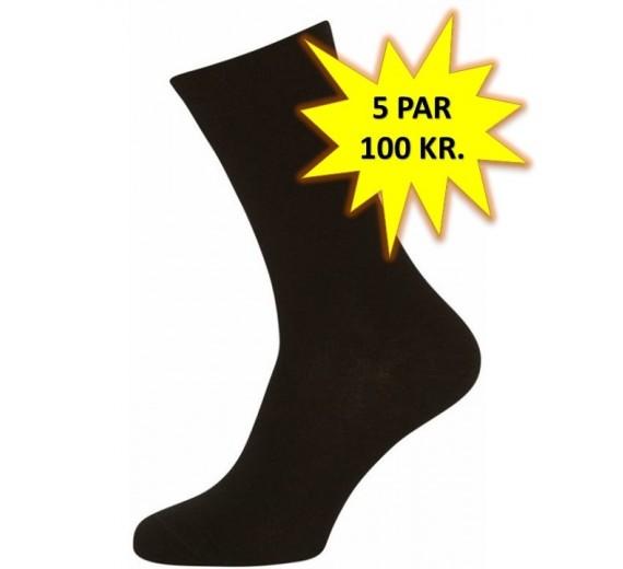 5 Par Gode Sorte Sokker (5-pak)