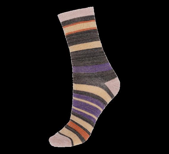 Socks CPH- Damestrømper med striber og glitter