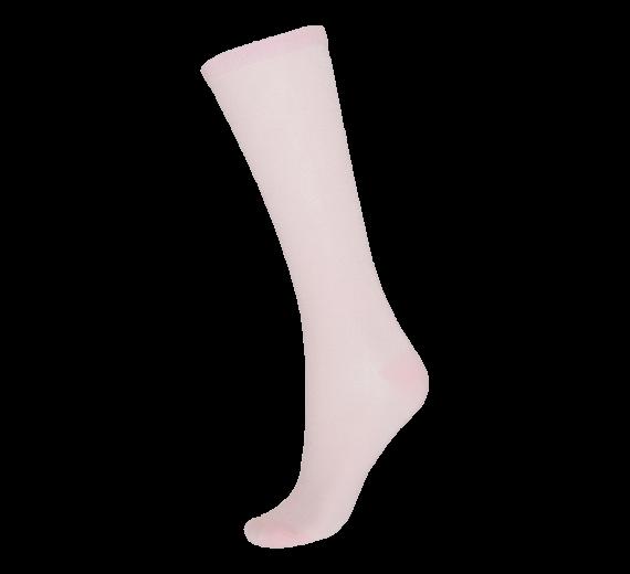 Socks CPH- Knæhøj damestrømpe- Lyserød glitter