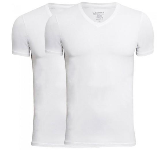 JBS Bambus T-Shirts V-Hals 2-Pak, Hvid - Str. XL