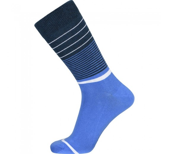 Blå JBS sokker med striber