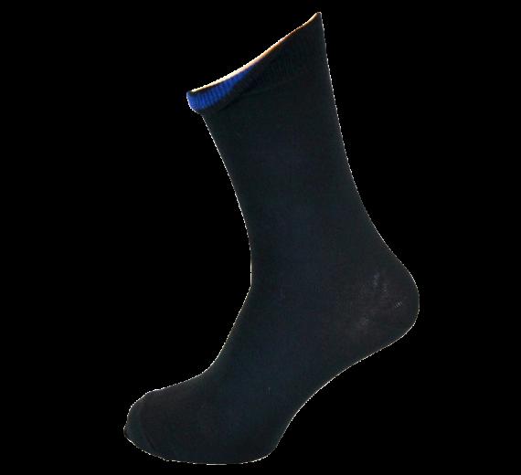 Sorte Sokker Med Indvendig Blå Markering
