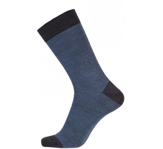 Blå Egtved Twin Sock Uldsokker