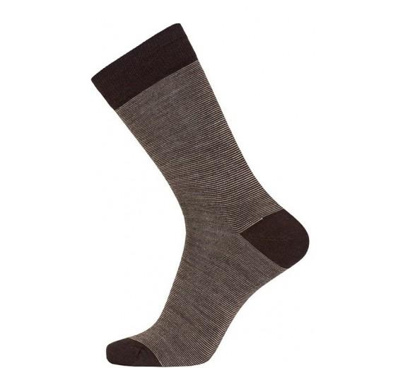 Brune Egtved Twin Sock Uldsokker
