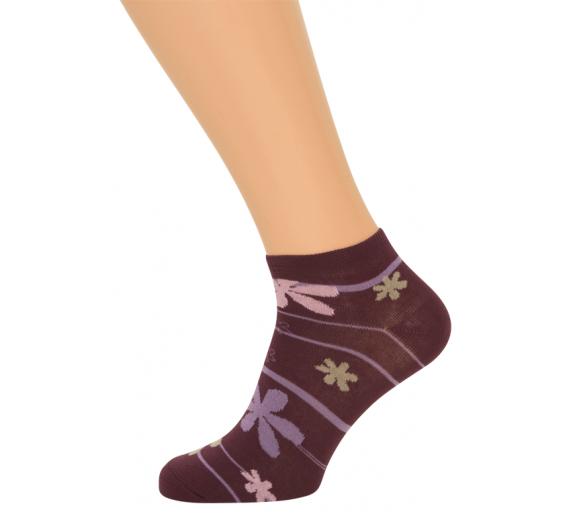 Ankelstrømper Med Striber (Korte Sokker)