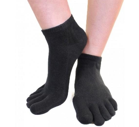 Ankel Tåsokker, ToeToe Essential Anklet Sort (Korte Sokker)