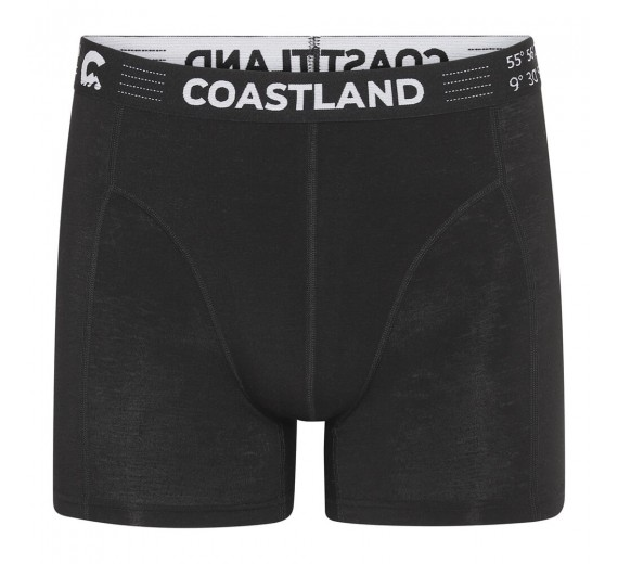 Sorte Coastland uld-boxershorts