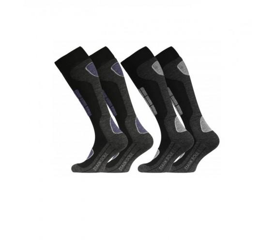 2-pak Stark Soul Ski Sokker - Blå, Grå