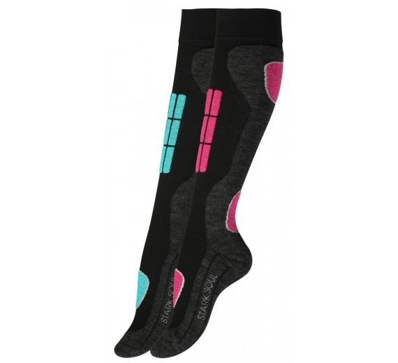 2-pak Stark Soul Ski Sokker - Turkis, Pink