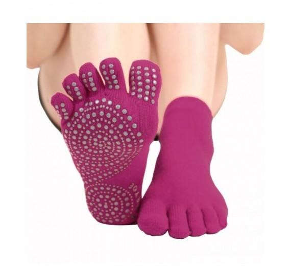 Yoga & Pilates Skridsikre Toesocks, ToeToe Anti-Slip Pink
