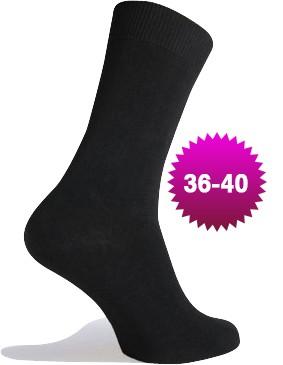 Sorte Sokker Bomuld - Str. 36-40