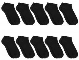 10 Par Sorte Bambus Ankelsokker (Korte Soker) - Socks CPH, Str. 36-40