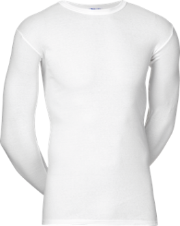 JBS Original Langærmet T-Shirt Med O-Hals Hvid str. 3X-Large