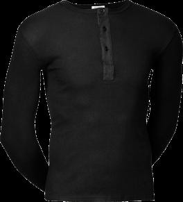 JBS Original Langærmet T-shirt Med Knapper Sort