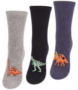 """3 par børnestrømper """"Dinosaur"""""""