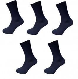 5 par navyblå strømper, str. 40-47