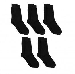 5 par sorte sokker, bomuld