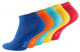 """5 par korte ankelsokker unisex, """"Fun Colors"""""""