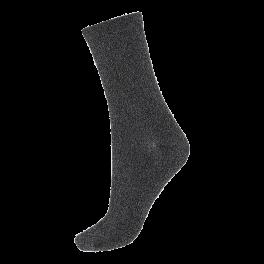 Socks CPH- Damestrømper sort med sølv glitter