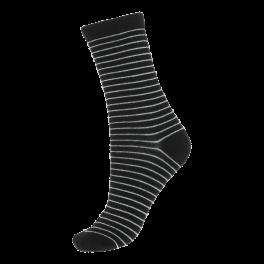 Socks CPH- Damestrømper sorte med glitter-striber