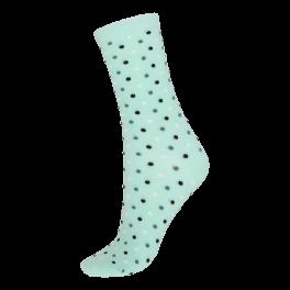 Socks CPH- Damestrømpe. Grøn med prikker