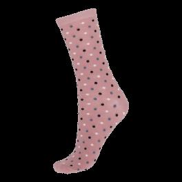 Socks CPH- Damestrømpe. Rosa med prikker