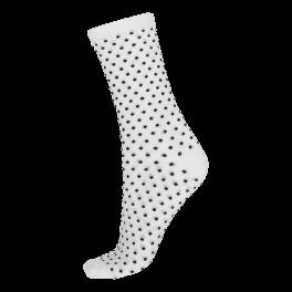 Socks CPH- Damestrømpe. Hvid med prikker