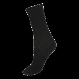 Socks CPH- Damestrømpe. Strukturstrik-Sort