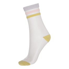 Gennemsigtige Socks CPH Damestrømper, Gul