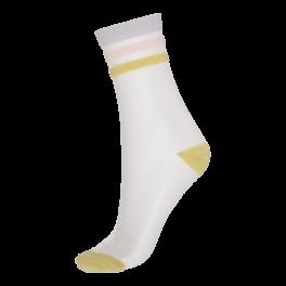 Socks CPH- Damestrømper transparent Gul