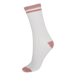 Socks CPH- Damestrømpe- Riflet White