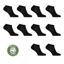 10 Par Sorte Ankelsokker (Korte Sokker)