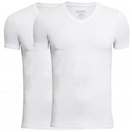 JBS Bambus T-Shirts V-Hals 2-Pak, Hvid - Str. 2XL