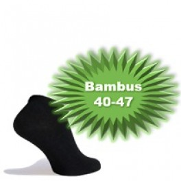 Bambus Ankelstrømper (Korte Strømper) Sort - Str. 40-47