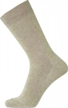 Beige Egtved bomuldsstrømper uden elastik - Str. 40-45