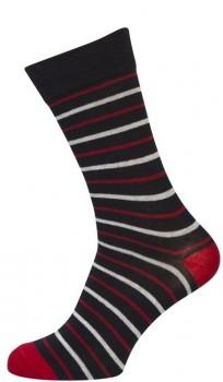 3-pak Socks CPH Sokker Med Røde Striber