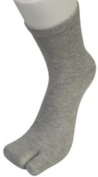 """Grå Two Socks - """"Lomme"""" til storetå"""