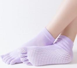 Lilla Yoga / Pilates Tåsokker Anti-Slip Sål - Str. 36-40