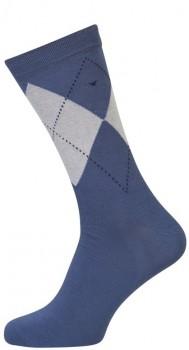 Blå Strømper Med Tern - Str. 47-50