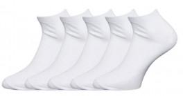 5 par Claudio sneaker socks, hvid