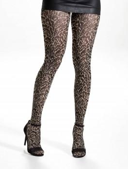 Decoy Leopard Fashion Strømpebukser Golden 70 Denier - Str. M/L