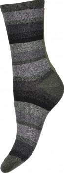 Decoy ankle sock glitter, Stribede Grøn