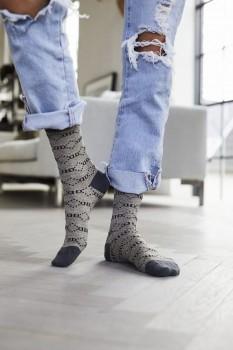 Decoy ankle sock glitter, Grå