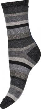 Decoy ankle sock glitter, Grå Stribede